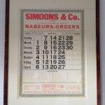 simoons calendar 1929