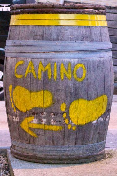 Sign towards the Camino
